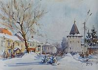 Площадь Богоявления Ярославль. Январь.