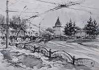 Площадь Богоявления Ярославль. Графика01