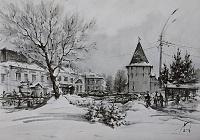 Площадь Богоявления Ярославль. Январь. 02