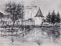 Площадь Богоявления Ярославль. Графика