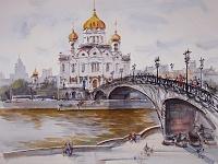 МОСКВА Патриарший мост к ХРАМУ ХРИСТА СПАСИТЕЛЯ