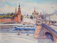 МОСКВА, КРЕМЛЬ,Большой Москворецкий мост
