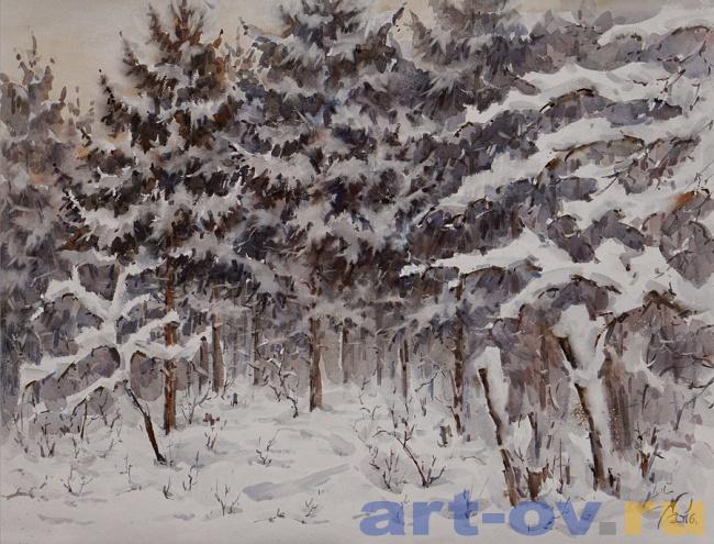 Сосны.Зимний лес.