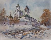У стен Спасо-Преображенского монастыря