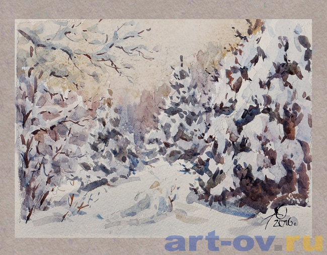 Зимний лес 02