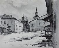В стенах монастыря. Кириллов. Март.