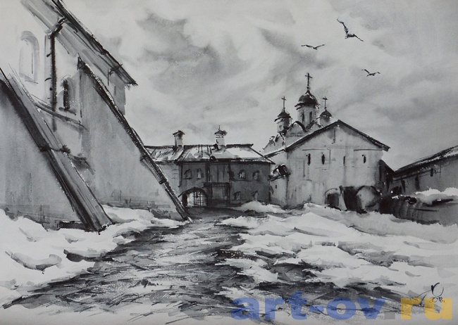 В стенах монастыря 02 Кириллов. Март.